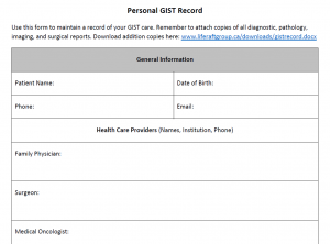 Personal GIST Record