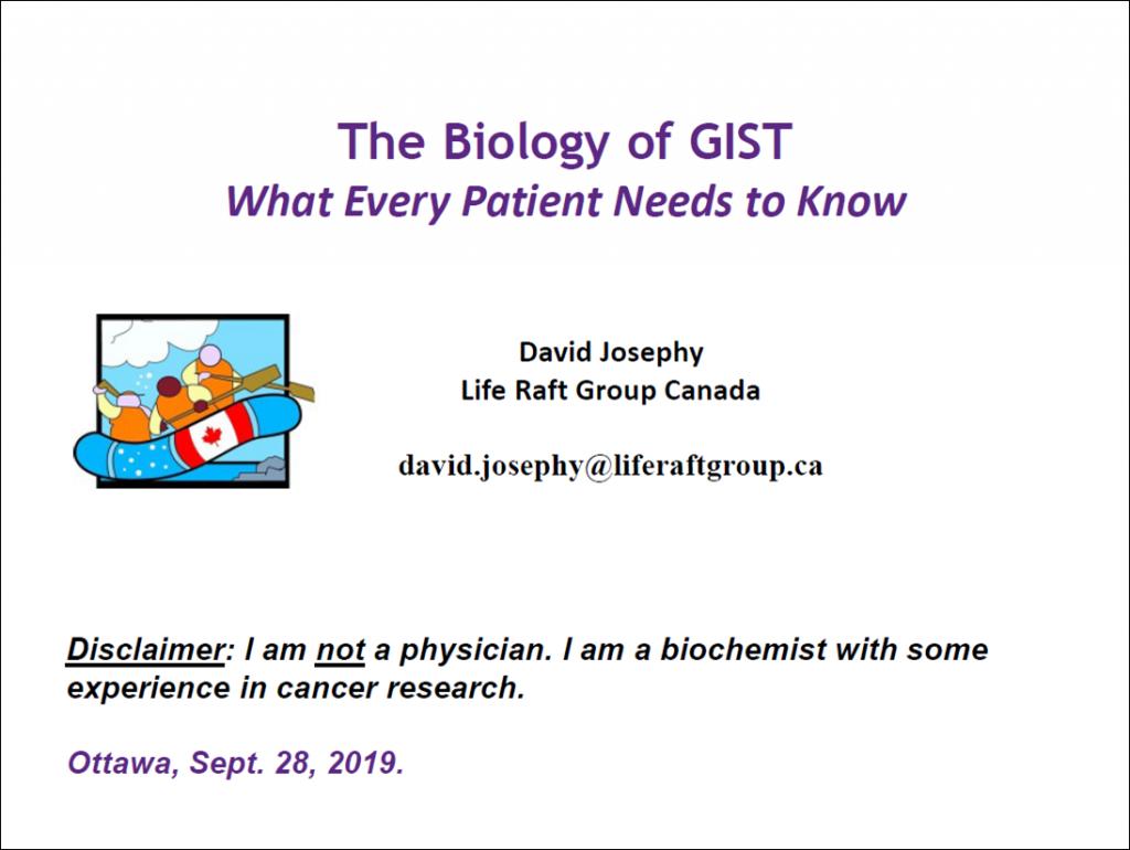 Title Slide - The Biology of GIST