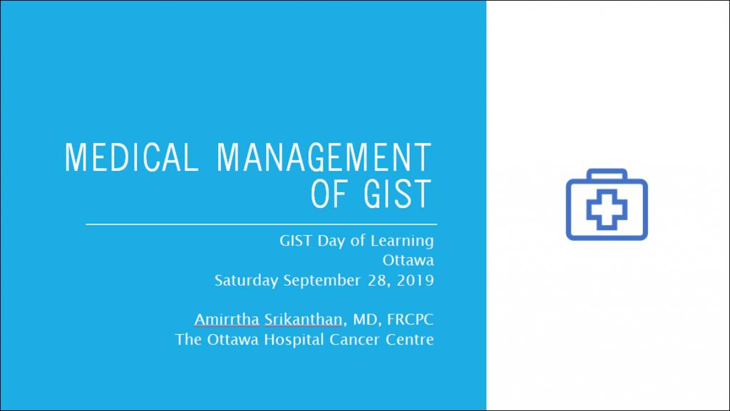 Title Slide - Medical Management of GIST